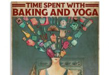 Time-spent-with-baking-and-yoga-is-never-wasted-posterz