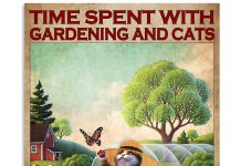 Time-spent-with-gardening-and-cats-is-never-wasted-poster