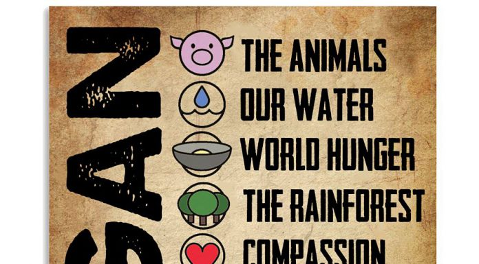 Vegan-The-animals-our-water-world-hunger-vintage-poster