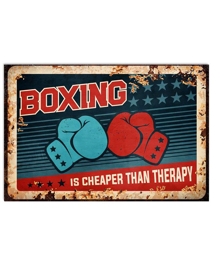 Boxing Is Cheaper Than Therapy Poster