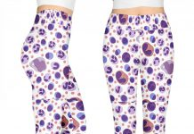 Cells-pattern-3D-leggings