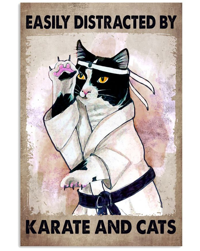 Easily-Distracted-By-Karate-And-Cats-Poster