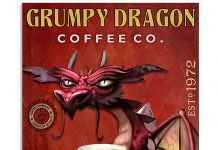 Grumpy-dragon-Coffee-Company-Serve-Yourself-Poster