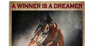 Horse-riding-A-winner-is-a-dreamer-who-never-gives-up-poster
