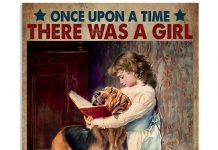 Once-Upon-A-Time-There-Was-A-Girl-Who-Really-Like-Dogs-And-Read-Books-Poster