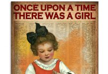 Once upon a time there was a girl who really loved knitting poster