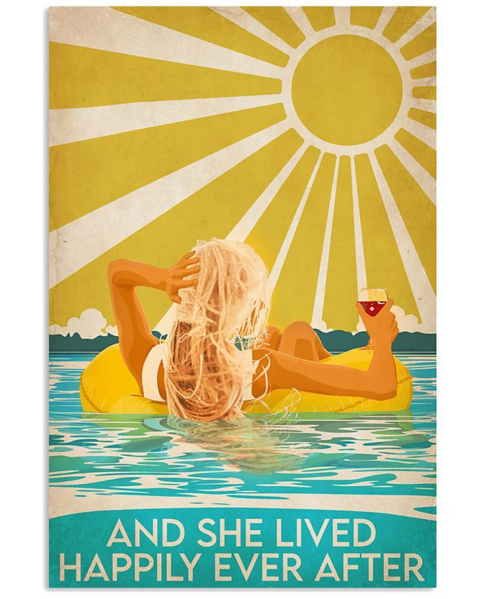 Swimming-Beach-And-she-lived-happily-ever-after-poster-1