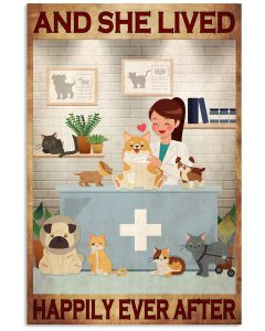 Veterinarian And she lived happily ever after poster