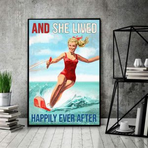 Waterskiing-And-She-Lived-Happily-Ever-After-Poster