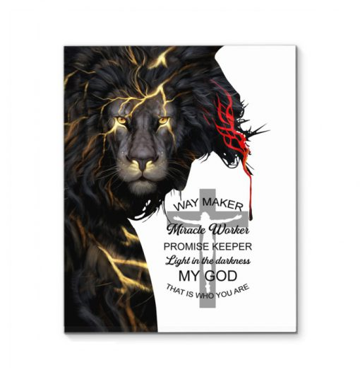 Way Maker Miracle Worker Promise Keeper Light In The Darkness My God That Is Who You Are Poster
