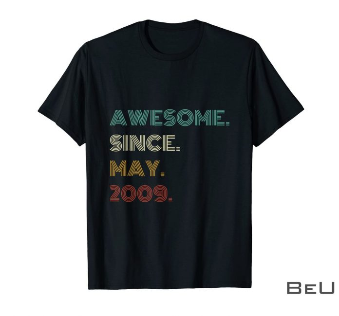 12th-Birthday-Awesome-Since-May-2009-12-Year-Old-Boys-Girls-Shirt