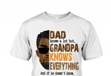 Black-Dad-Knows-A-Lot-But-Grandpa-Knows-Everything-Shirt