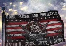 Born-Raised-And-Protected-By-God-Guns-Guts-And-Glory-Flag