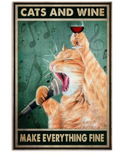Cats-And-Wine-Make-Everything-Fine-Poster