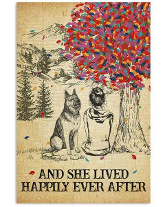German-Shepherd-And-She-Lived-Happily-Ever-After-Poster