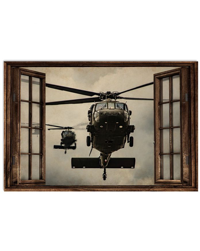 Helicopter-Window-Poster