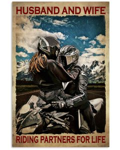 Husband-And-Wife-Riding-Partners-For-Life-Poster