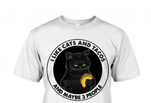 I-Like-Cats-And-Tacos-And-Maybe-3-People-Shirt