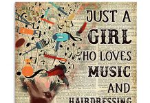 Just-A-Girl-Who-Loves-Music-And-Hairdressing-Poster
