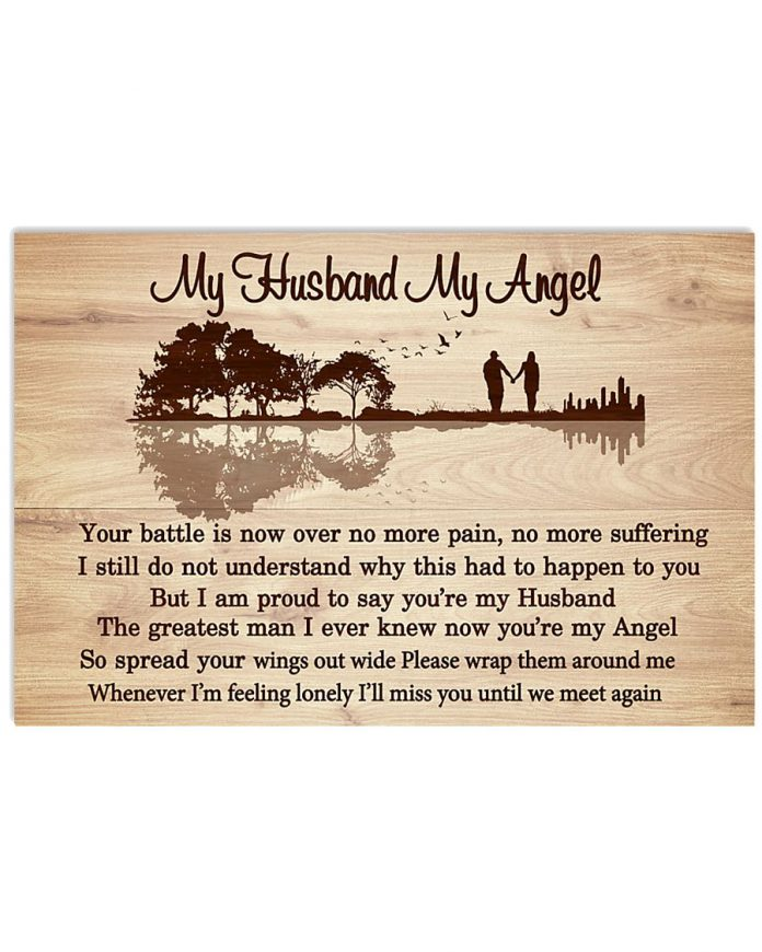 My-Husband-My-Angel-Your-Battle-Is-Now-Over-No-More-Pain-Poster