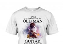 Never-Underestimate-An-Old-Man-With-A-Guitar-Who-Was-Born-In-July-Shirt