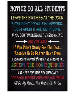 Notice-To-All-Students-Leave-The-Excuses-At-The-Door-Poster