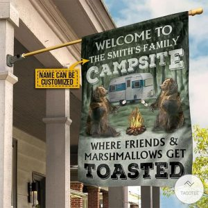 Personalized-Camping-Welcome-To-Campsite-Where-Friends-And-Marshmallows-Get-Toasted-Flag