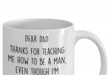 Personalized-Dear-Dad-Thanks-For-Teaching-Me-How-To-Be-A-Man-Even-Though-Im-Your-Daughter-Mug