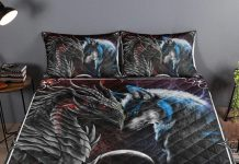 Personalized-Dragon-And-Wolf-This-Is-Us-A-Whole-Of-Love-Quilt-Bedding-Set