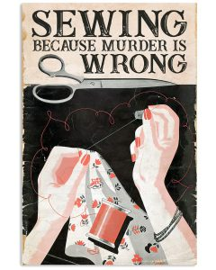 Sewing-Because-Murder-Is-Wrong-Poster