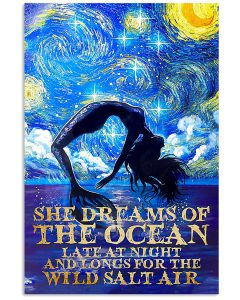 She-Dreams-Of-The-Ocean-Late-At-Night-And-Longs-For-The-Wild-Salt-Air-Poster