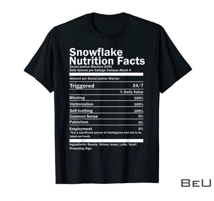 Snowflake-Nutrition-Facts-Shirt