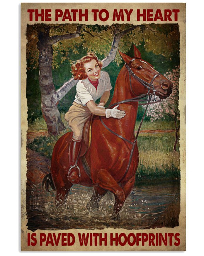 The-Path-To-My-Heart-Is-Paved-With-Hoofprints-Poster