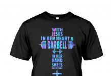 With-Jesus-In-Her-Heart-And-Barbell-In-Her-Hand-She-Is-Unstoppable-Holographic-Shirt