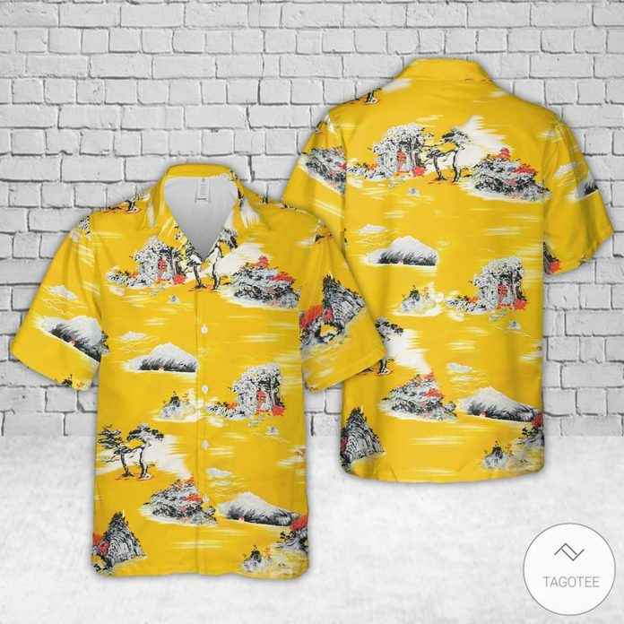 Yellow-Style-Cliff-Booth-Once-Upon-a-Time-in-Hollywood-Hawaiian-Shirt
