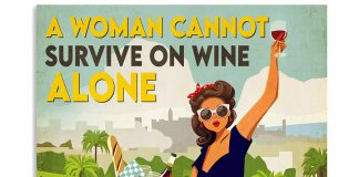 A-Woman-Cannot-Survive-On-Wine-Alone-She-Also-Needs-Bicycle-Poster