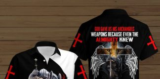 God-Gave-His-Archangels-Weapons-Because-Even-The-Almighty-Knew-Button-Shirt