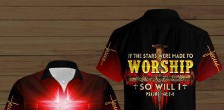 Jesus-Is-My-Savior-If-The-Stars-Were-Made-To-Worship-So-Will-I-Button-Shirt