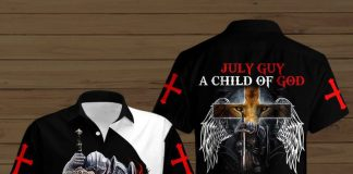 July-Guy-A-Child-Of-God-A-Man-Of-Faith-A-Warrior-Of-Christ-Button-Shirt