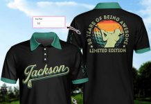 Personalized-Awesome-Golfer-50-Years-Of-Being-Awesome-Polo-Shirt