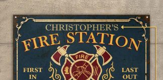 Personalized-Firefighter-Fire-Station-Metal-Signs