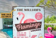 Personalized-Flamingo-Lounge-Metal-Signs