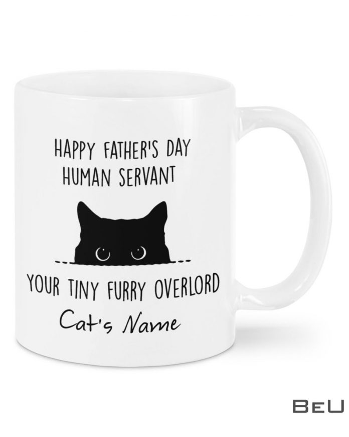 Personalized-Happy-Fathers-Day-Your-Tiny-Furry-Overlord-Cat-Mug
