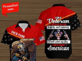 Personalized-Name-All-Give-Some-Some-Gave-All-Eagle-Flag-I-Am-A-Veteran-Button-Shirt