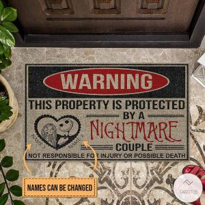 Personalized-This-Property-Is-Protected-By-A-Nightmare-Couple-Doormat