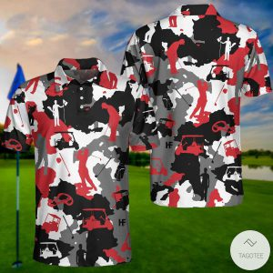 Red-And-White-Camouflage-Golf-Polo-Shirtx