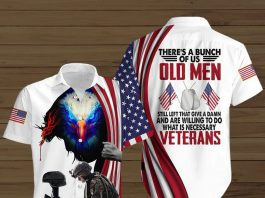 Theres-A-Bunch-Of-Us-Old-Men-Still-Left-That-Give-A-Damn-And-Are-Willing-To-Do-What-Is-Necessary-Veterans-Button-Shirt