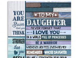 To-My-Daughter-Never-Forget-That-I-Love-You-In-A-World-Full-Of-Princesses-Be-A-Warrior-Poster