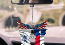 United-States-Coast-Guard-And-The-Lone-Star-Texas-Flag-Car-Hanging-Ornament