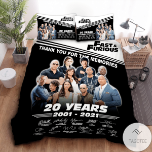 Fast-And-Furious-20-Years-2001-2021-Thank-You-For-The-Memories-Bedding-Set